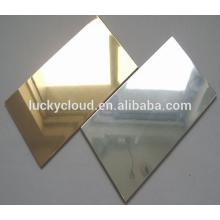 Panel compuesto de aluminio con acabado espejo para material de construcción