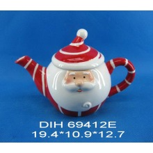 Santa-Shaped Ceramic Teapot
