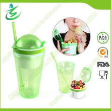 16oz Snack Tumbler avec paille et couvercle, norme FDA / SGS