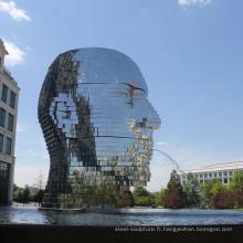décoration extérieure moderne de jardin metalmorphosis sculpture en mouvement de l'eau