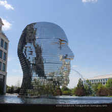 modern outdoor garden decoration metalmorphosis moving water sculpture