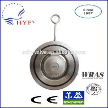 PN10/PN16 thin stainless steel wafer swing check valve