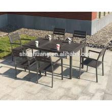 Cheap designs Garden plastic wood furniture chairs aluminum dining stool