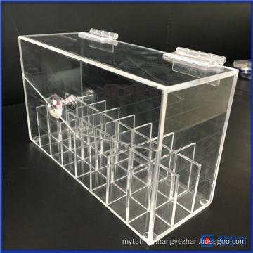 Acrylic Lipstick Organizer Dustproof Lipgloss Holder Case