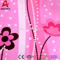 cheap 100% polyester flannel fleece custom printed bedding set