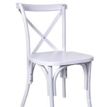 White Cross Back Chair for Restaurant Dining