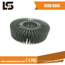 Dissipateur de chaleur en aluminium ADC12 avec des pièces d'anodisation et d'usinage