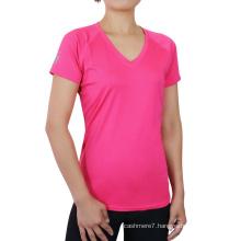 Wholesale Women Quick Dry Sport Wear T-Shirt