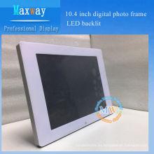 Marco de fotos digital de 10.4 pulgadas LED retroiluminada