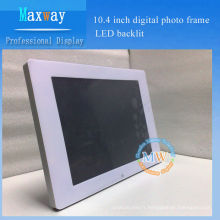 Cadre de photo numérique de 10,4 pouces LED rétro-éclairé