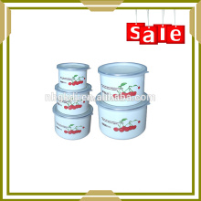 Pure color clean and health stainless steel cold food storage bowl set