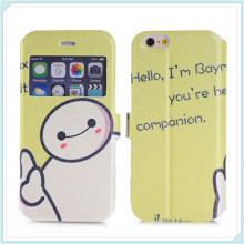 Smart View Window PU Leather Folio Slim Flip Case Cover for iPhone 6s Plus