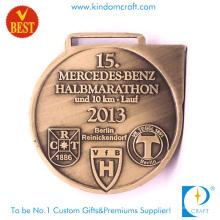 Hochwertige Mode Maßgeschneiderte Metall 3D 10km Marathon Medaille mit Kupfer Stempeln