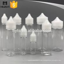 spezielle Art unterschiedliche Größe PET e Flüssigkeit Flasche mit Kappe