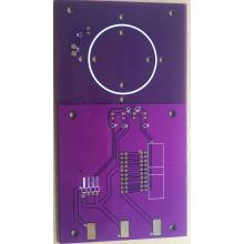 2 layer 1.6mm 1 oz purple solder ENIG PCB