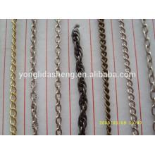 Precio de fábrica de encargo cadena fina del metal para el bolso