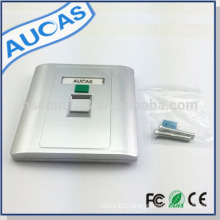 Aucas hdmi faceplate rj45 faceplate 4 port face plate with silver finishes