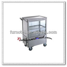 S097 Stainless Steel Kitchen Cake Servise Trolley