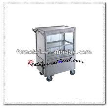 S097 Bolo de cozinha de aço inoxidável Servise Trolley