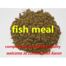 Repas de poisson de poudre de protéine pour l'alimentation des animaux de haute qualité