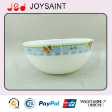 Decoração de alta qualidade Deep Glass Oval Bowl Uso para casa
