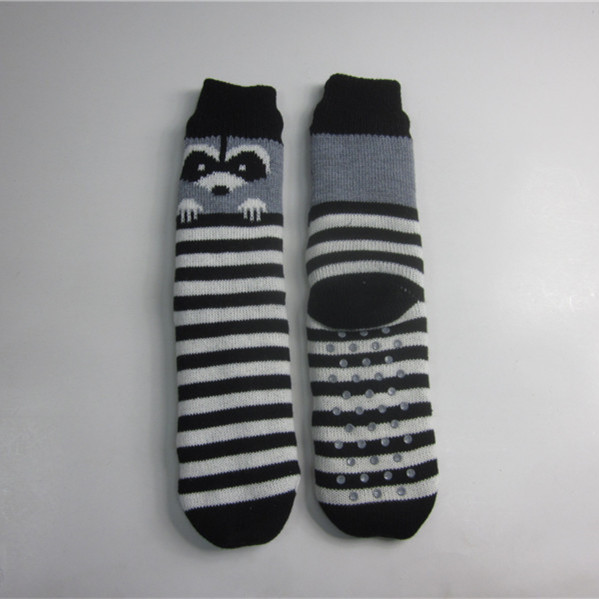 Striped Fox Jacquard Boden Socken