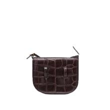 Mini sac à bandoulière en cuir de crocodile