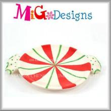 Factory Direct Christmas New Design Ceramic Candy Plate