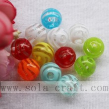 Beauty Clear Round Through Hole Acrylic Strip Beads