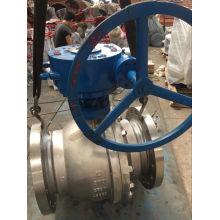 Válvula de bola del engranaje de la clase 300 CF8m del engranaje