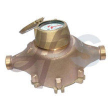 Medidor de agua tipo pistón volumétrico de carga inferior AWWA
