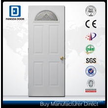 Ornament Iron Door with Decorative Tempered Glass Inserted
