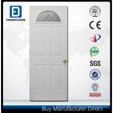 Орнамент железная дверь с декоративными закаленное стекло Вставить
