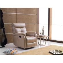 Sofá de salón con sofá moderno de cuero genuino (783)