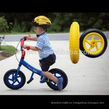 rueda de goma del cochecito de bebé de la muñeca de la rueda del carro de compras de 12 pulgadas de alta calidad 12 ''