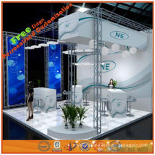 6x6 Fashionable trade show display equipment design from Shanghai