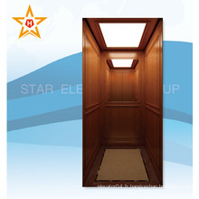 Ascenseur de villa avec finition en bois et miroir Xr-J05