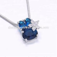 EXW price sapphire stone cute rabbit shape pendant for children