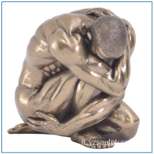 Grandezza naturale scultura di bronzo Self Made Man nudo