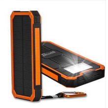Hot Selling Solar Charger Mobile Solar Power Bank with LED Light 10000mAh