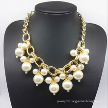 Pearl Chain Gold Plating Necklace (XJW13779)