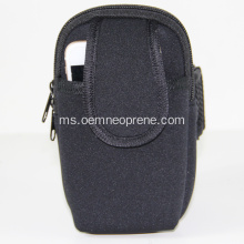 Black Comfortable Neoprene Sports Arm bag boleh laras
