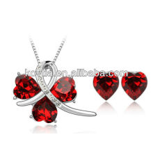 New coming women evening party ruby jewelry set