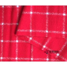 Windowpane Semak Corak Double Woolen Fabric Fabric