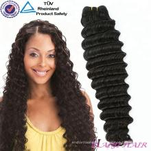 Extension de cheveux de 100% en vrac de couleur normale aucun rejetant aucun cheveux vierges crus teints