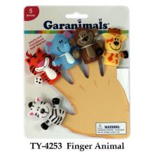Lustiges Finger-Tier-Plastikspielzeug