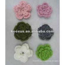 La flor de la ropa bordado parche applique trabajo