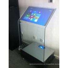 Quiosque transparente do toque da projeção de 30 polegadas Holo interativo