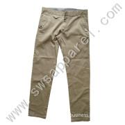 Man's Khaki Leisure Fashion Twill Pants