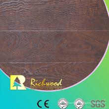 Comercial 12.3mm en relieve Hickory encerado filo Lamiante piso